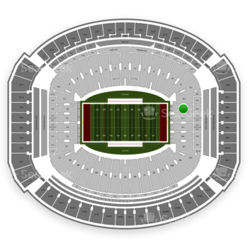 Alabama Crimson Tide Football at Bryant-Denny Stadium N 3 View