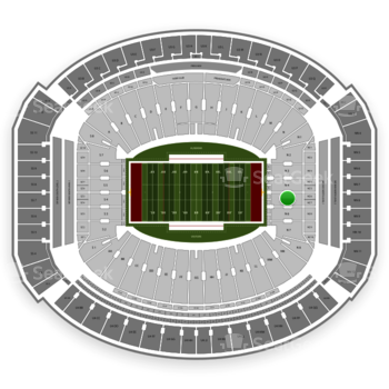 Alabama Crimson Tide Football at Bryant-Denny Stadium N 5 View