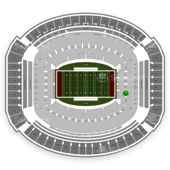 Alabama Crimson Tide Football at Bryant-Denny Stadium N 6 View