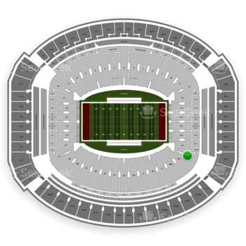 Alabama Crimson Tide Football at Bryant-Denny Stadium N 8 View