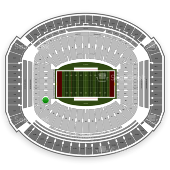 Alabama Crimson Tide Football at Bryant-Denny Stadium S 2 View