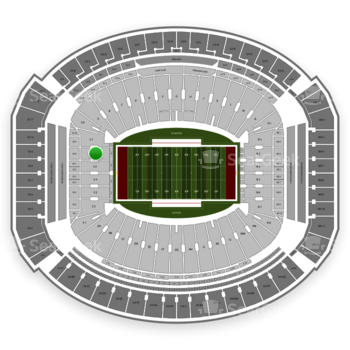 Alabama Crimson Tide Football at Bryant-Denny Stadium S 6 View