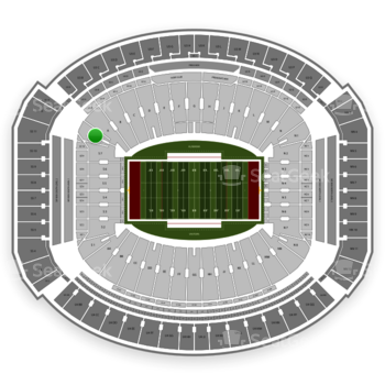Alabama Crimson Tide Football at Bryant-Denny Stadium S 8 View