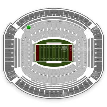 Alabama Crimson Tide Football at Bryant-Denny Stadium U 1 B View