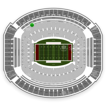 Alabama Crimson Tide Football at Bryant-Denny Stadium U 1 C View