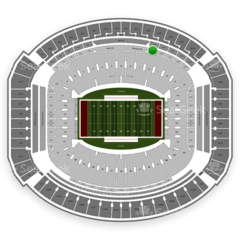 Alabama Crimson Tide Football at Bryant-Denny Stadium U 1 N View