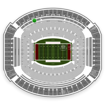 Alabama Crimson Tide Football at Bryant-Denny Stadium U 2 D View