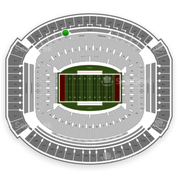 Alabama Crimson Tide Football at Bryant-Denny Stadium U 2 E View