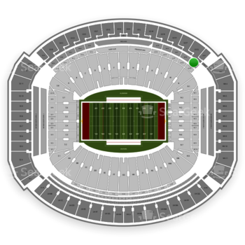 Alabama Crimson Tide Football at Bryant-Denny Stadium U 2 R View