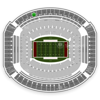 Alabama Crimson Tide Football at Bryant-Denny Stadium U 3 E View