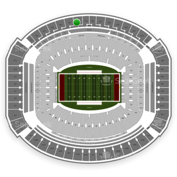 Alabama Crimson Tide Football at Bryant-Denny Stadium U 3 G View