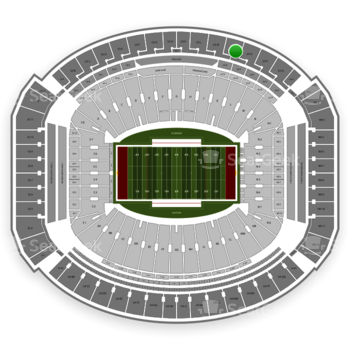 Alabama Crimson Tide Football at Bryant-Denny Stadium U 3 N View
