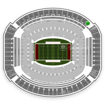 Alabama Crimson Tide Football at Bryant-Denny Stadium U 3 R View