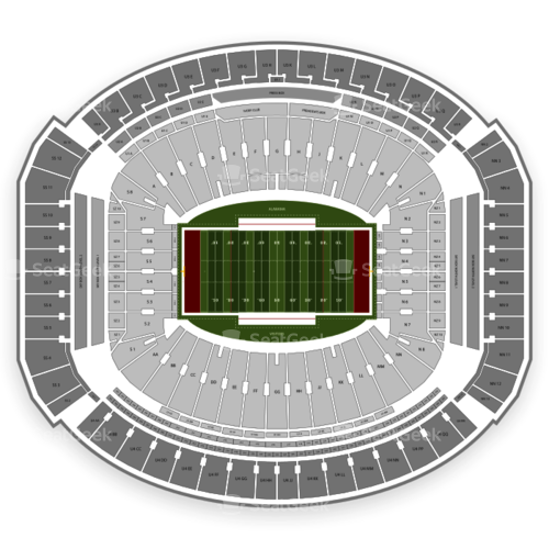 Alabama Crimson Tide Football Seating Chart