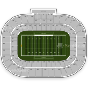 UCF Knights Football Seating Chart