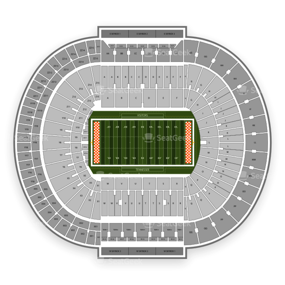 Neyland Stadium Seating Chart Concert