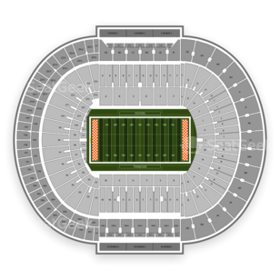 Tennessee Volunteers Football Seating Chart