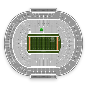 Tennessee Volunteers Football at Neyland Stadium C View
