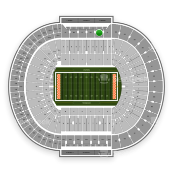 Tennessee Volunteers Football at Neyland Stadium Ee View