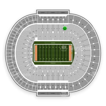 Tennessee Volunteers Football at Neyland Stadium F View