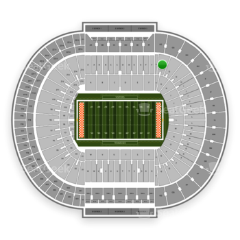 Tennessee Volunteers Football at Neyland Stadium G View