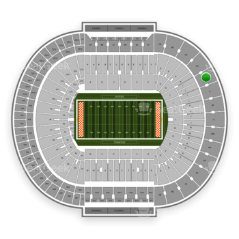 Tennessee Volunteers Football at Neyland Stadium Ii View