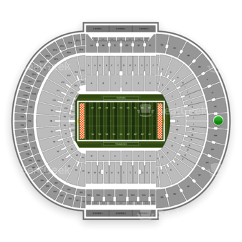 Tennessee Volunteers Football at Neyland Stadium Ll View