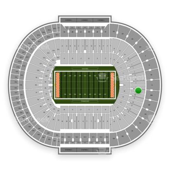 Tennessee Volunteers Football at Neyland Stadium M View