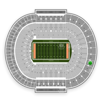 Tennessee Volunteers Football at Neyland Stadium Nn View