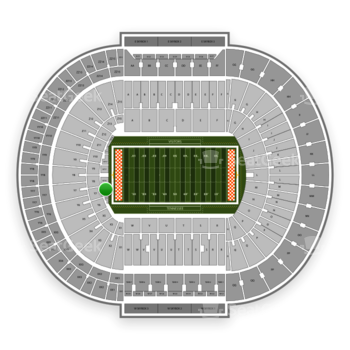 Tennessee Volunteers Football at Neyland Stadium Nt 16 View