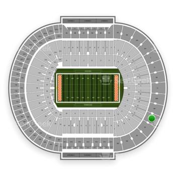 Tennessee Volunteers Football at Neyland Stadium Oo View