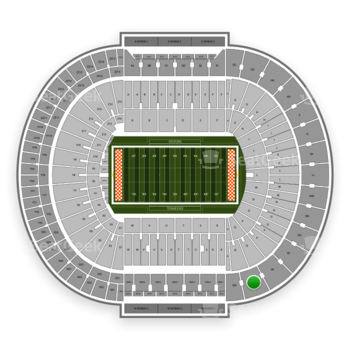 Tennessee Volunteers Football at Neyland Stadium Qq View