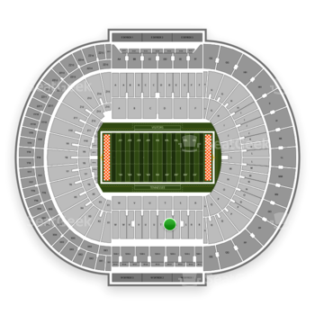 Tennessee Volunteers Football at Neyland Stadium T View