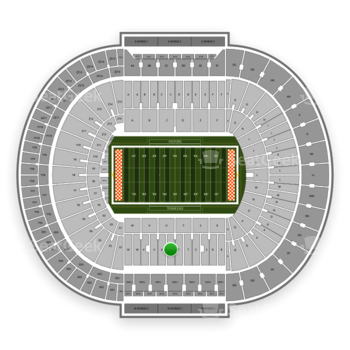 Tennessee Volunteers Football at Neyland Stadium U View