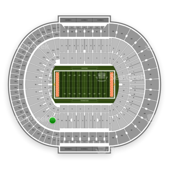 Tennessee Volunteers Football at Neyland Stadium X 2 View