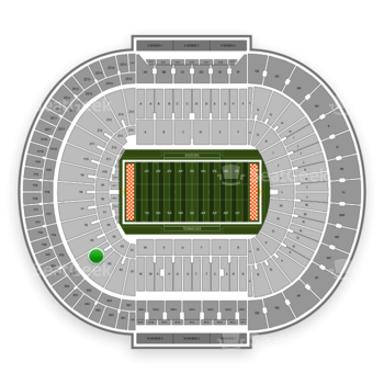 Tennessee Volunteers Football at Neyland Stadium X 4 View
