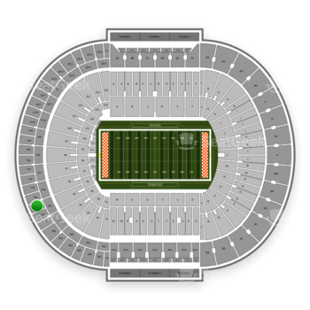 Tennessee Volunteers Football at Neyland Stadium Section XX 5 View