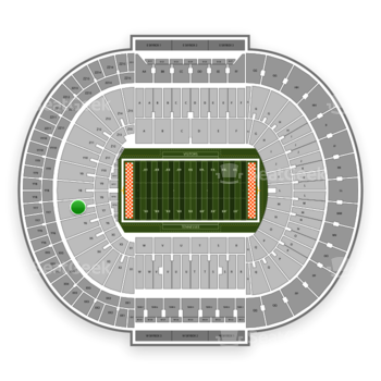 Tennessee Volunteers Football at Neyland Stadium Y 7 View