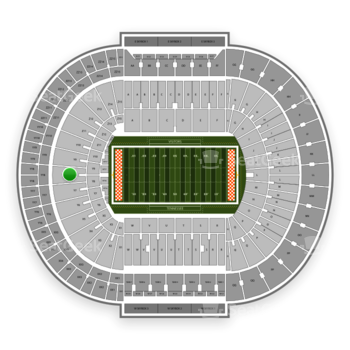 Tennessee Volunteers Football at Neyland Stadium Y 8 View