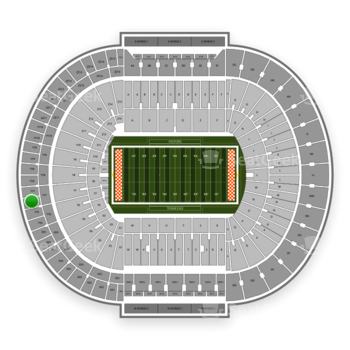 Tennessee Volunteers Football at Neyland Stadium Yy 7 View