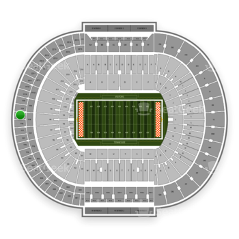 Tennessee Volunteers Football at Neyland Stadium Yy 8 View