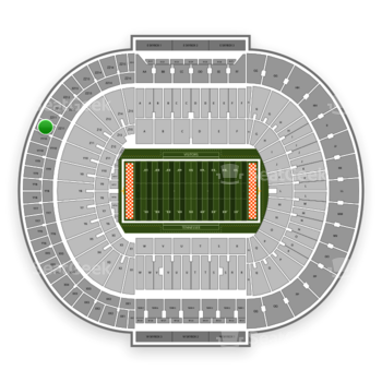 Tennessee Volunteers Football at Neyland Stadium Zz 11 View