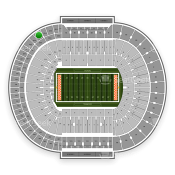 Tennessee Volunteers Football at Neyland Stadium Zz 13 View
