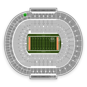 Tennessee Volunteers Football at Neyland Stadium Zz 14 View