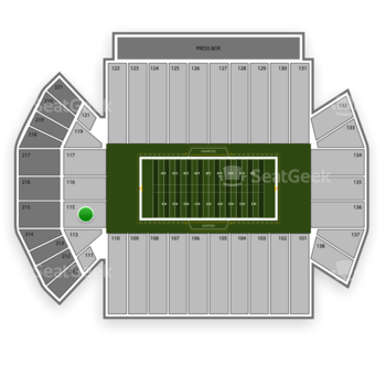 Iowa Hawkeyes Football at Kinnick Stadium Section 115 View