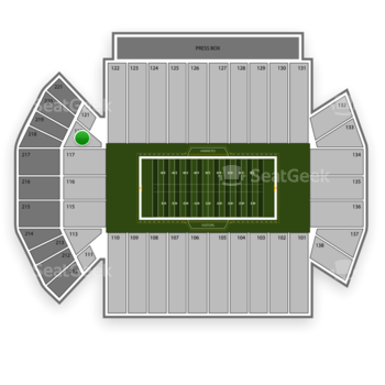 Iowa Hawkeyes Football at Kinnick Stadium Section 119 View