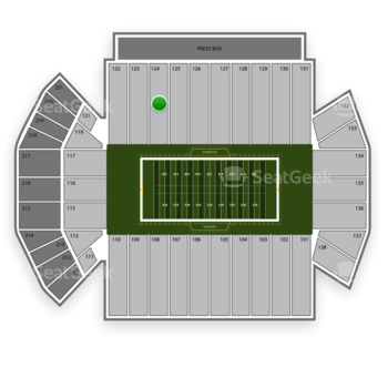 Iowa Hawkeyes Football at Kinnick Stadium Section 124 View