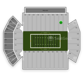 Iowa Hawkeyes Football at Kinnick Stadium Section 130 View