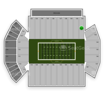 Iowa Hawkeyes Football at Kinnick Stadium Section 131 View