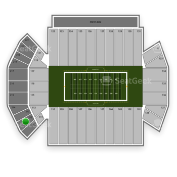 Iowa Hawkeyes Football at Kinnick Stadium Section 212 View